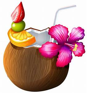 Caribbean clipart coconut drink - Pencil and in color ...