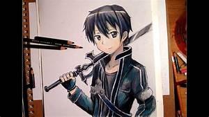 Drawing Kirito From Sword Art Online - Timelapse