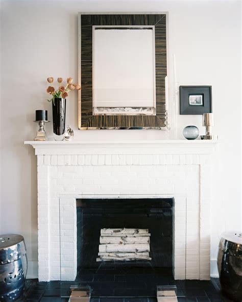 mirror  fireplace