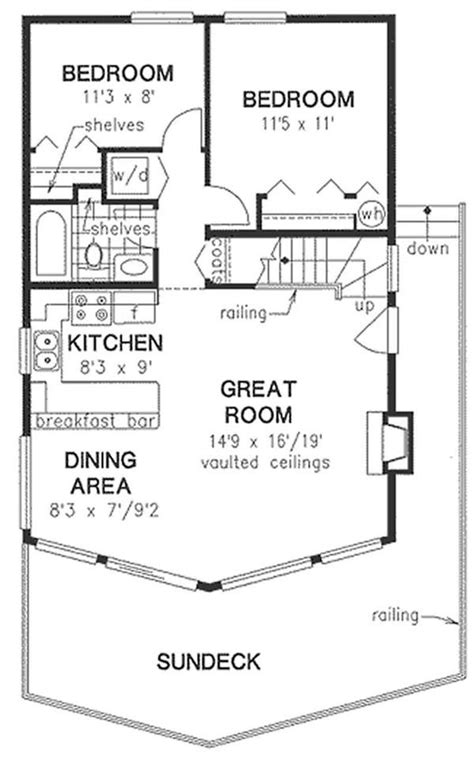 2 bedroom 1 bath attic plans floor plan sleeping loft with storage upstairs but no 1 2 bath floor plans house plan