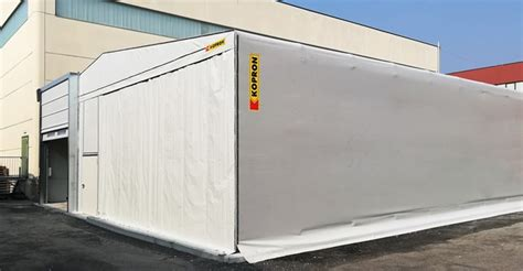 kopron capannoni capannone retrattile kopron per stoccaggio di planzer