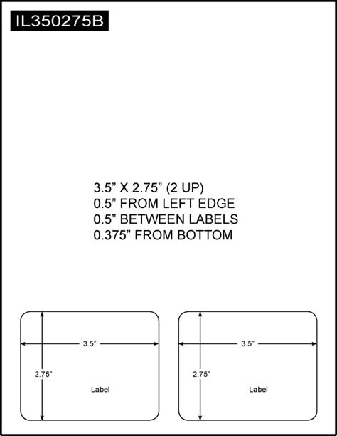 Integrated Label, 3.5 x 2.75 (2 Up), 8.5 x 11 Sheet Size