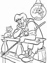 Pinocchio Coloring Disney Printable Bright Colors Favorite Mycoloring sketch template