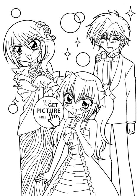 Kilari And Seiji Anime Coloring Pages For Kids Printable