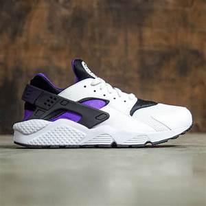 nike air huarache white hyper grape black purple