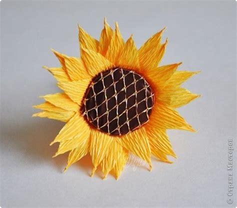 diy crepe paper chocolate sunflower