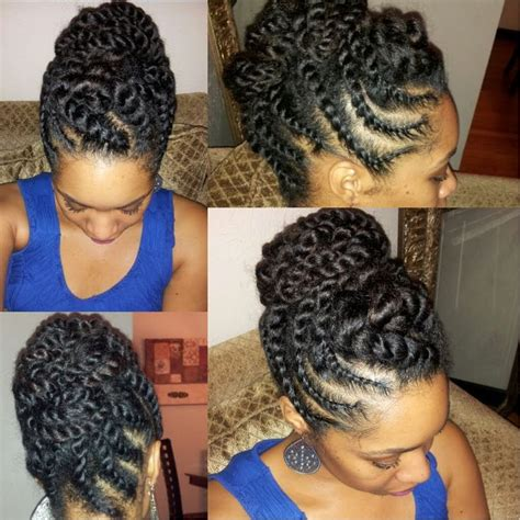 Twist Updo Hairstyles Hair by Hair Flat Twist Updo Protective Style