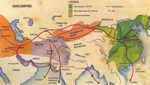 Ancient Silk Road Trade Route Map