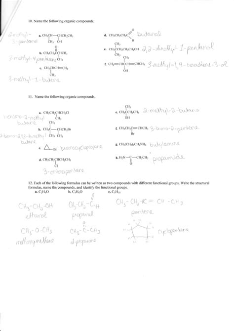 Structure Of Organic Compounds Worksheet Worksheets Kristawiltbank Free Printable Worksheets