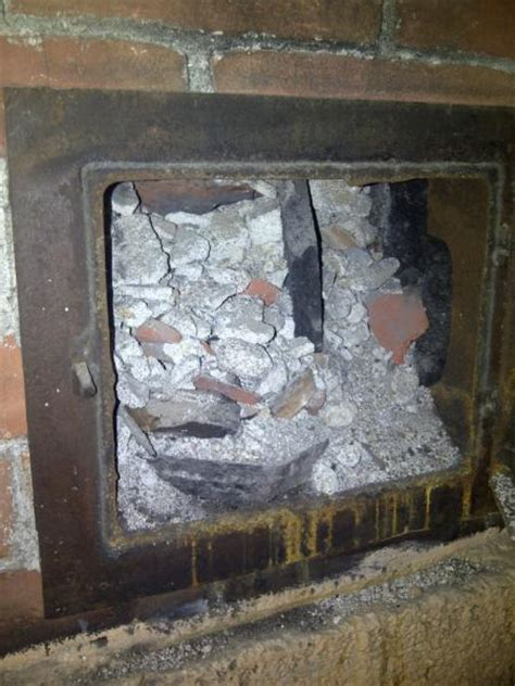 removing indoor brick chimney  stories tall