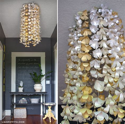 diy paper flower chandelier paper papers