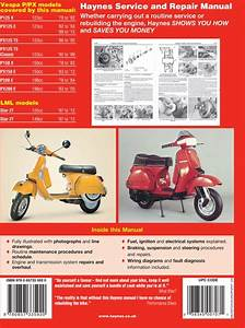 Vespa Repair Manual By Haynes - 1978-2014  Px 125  150