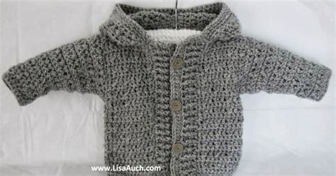 Crochet Baby Boy Cardigan Pattern With Hood (easy Hooded Crochet Cardigan Pattern Free) 3 Sizes