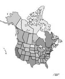 Free Printable North America Map