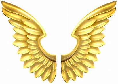 Wings Angel Transparent Gold Clipart Clip Yopriceville