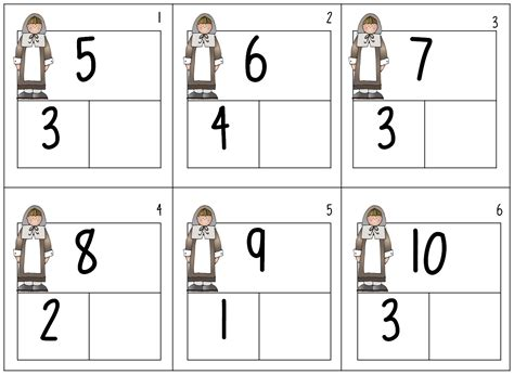 kindergarten composing and decomposing numbers worksheets