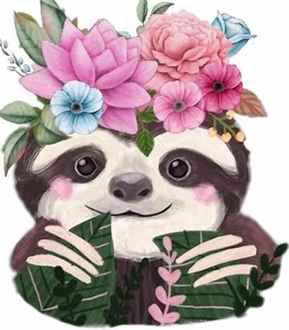 Sloth Clipart Flower Transparent Clip