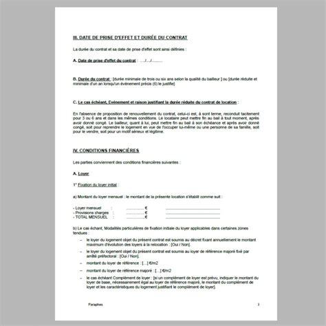 contrat de location chambre meubl馥 chez l habitant bail de location meuble pdf kit location meubl non saisonni re bail meubl dur e immobilier en image contrat de location meubl resume cover