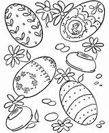 Coloring Easter Eggs Egg Sheets Activity Hard Bunny Children Lots Shows sketch template