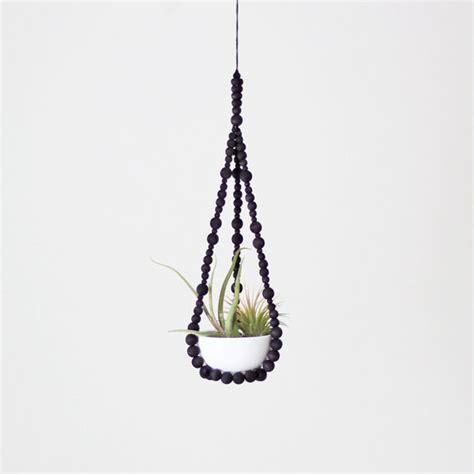 decorative plant hangers indoor small beaded plant hanger by hruskaa modern indoor
