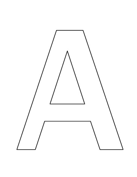 Letter A Template by Letter A Crafts For Preschool Preschool And Kindergarten