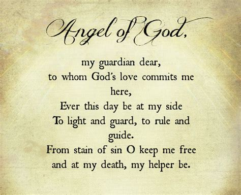 to rule and guide of god my guardian dear to whom god s commits