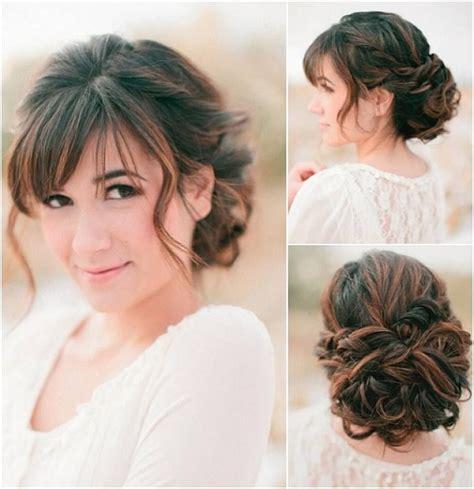 wedding updos  brides  bangs google search