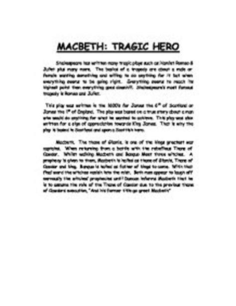 Macbeth Tragic Essay Thesis by Essays Macbeth As A Tragic