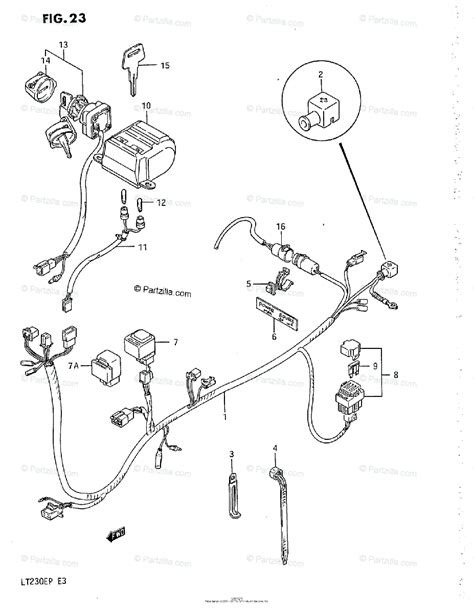 suzuki atv 1993 oem parts diagram for wiring harness