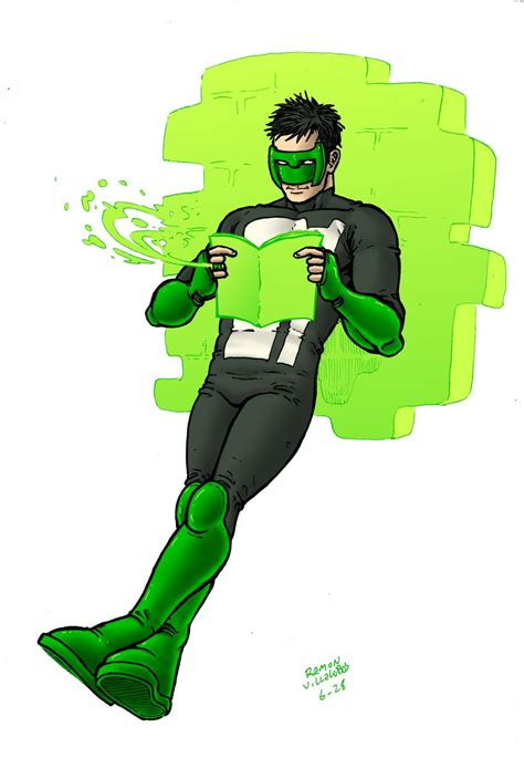 read green lantern kyle rayner by ramonvillalobos on deviantart
