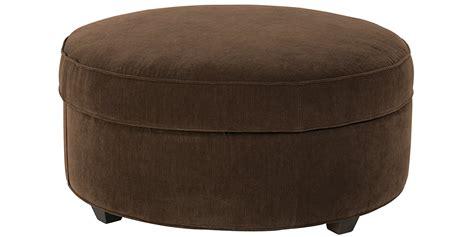 Large Round Fabric Upholstered Storage Ottoman Club