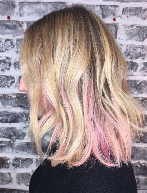 Best 25 Pink Hair Highlights Ideas On Pinterest Brown