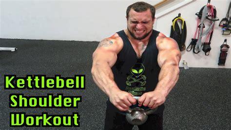 kettlebell shoulder workout minute intense