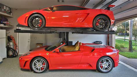 lifted ferrari american custom lifts m1 4 5 single post car lift install