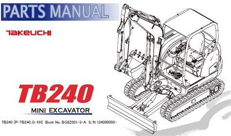 takeuchi tb mini excavator parts manual  service manual