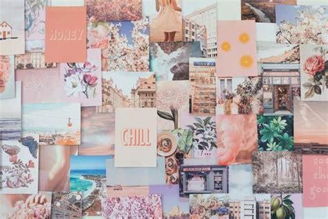 Peachy Pink Collage Kit Etsy in 2020 Desktop wallpaper