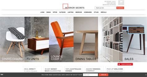 mobile friendly ecommerce site  furniture retailer