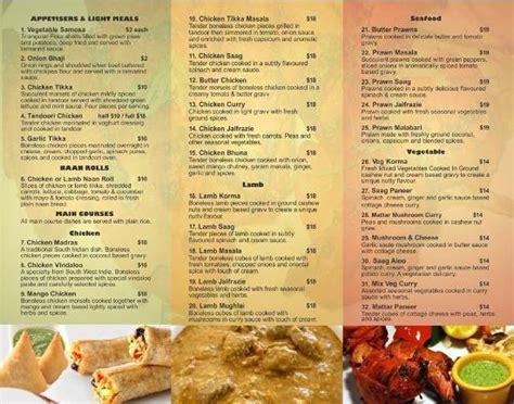 indian cuisine menu our menu picture of sagun cafe indian cuisine tripadvisor