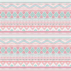 Tribal ethnic seamless pink pattern Vector Image #82710 ...