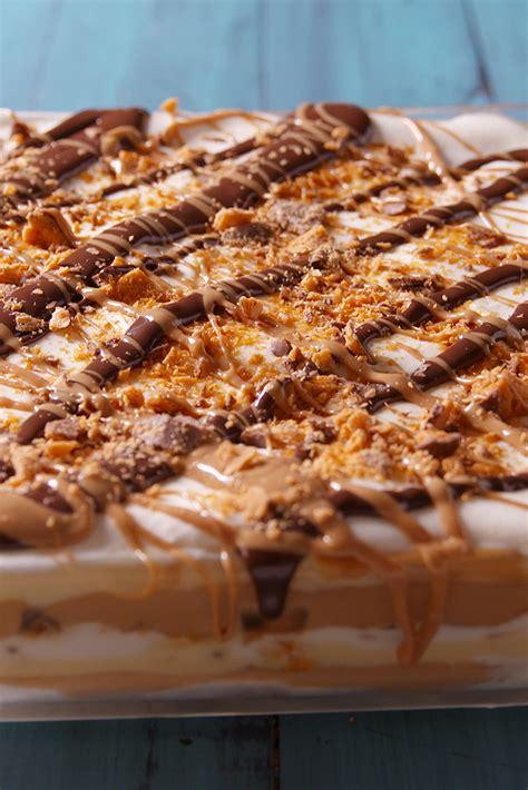 best peanut butter dessert lasagna recipe how to make peanut butter dessert lasagna delish com