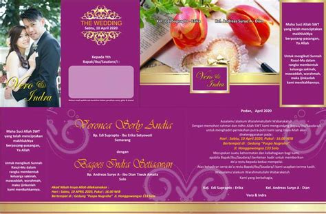 desain undangan pernikahan minimalis