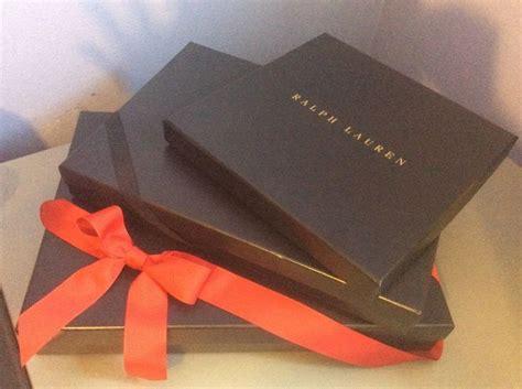 ralph lauren navy blue lg gift box lot  sizes empty shirt