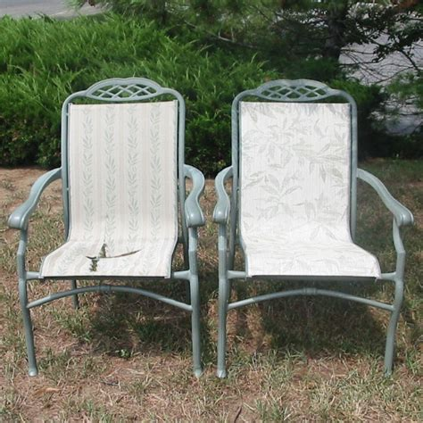 outdoor sling furniture replacement slings repair refinish