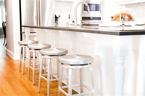 Swivel Island Stools by Island With Backless Aluminum Swivel Counter Stools