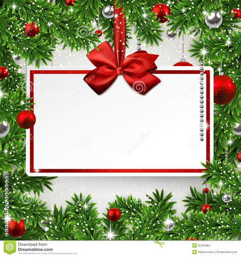 christmas wallpaper invitations frame with invitation card stock vector illustration of card 35781864