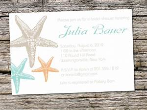 starfish elegance bridal shower baby shower destination With bridal shower invitations for destination wedding