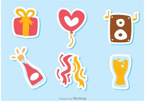 color birthday icon vectors pack    vectors
