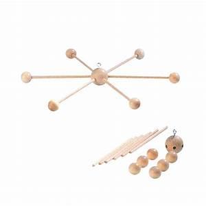Mobile Bébé Bois : croix pour mobile en toile en bois 4x100x200mm 3210101 ~ Teatrodelosmanantiales.com Idées de Décoration