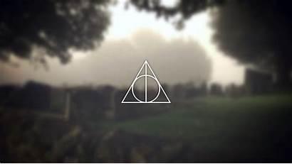 Hallows Deathly Potter Harry Symbol Deviantart Wallpapers
