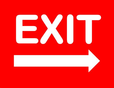 printable exit sign archives freewordtemplatesnet